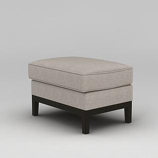 沙发凳3d模型3d模型
