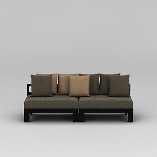 中式简约沙发3d模型3d模型
