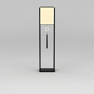 中式落地灯3d模型