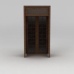 中式古典雕花木门模型3d模型