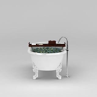 浪漫独立浴缸3d模型
