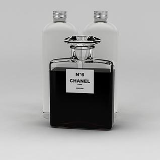 香奈儿五号香水3d模型