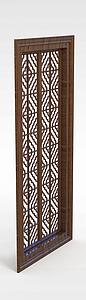 中式雕花窗模型3d模型