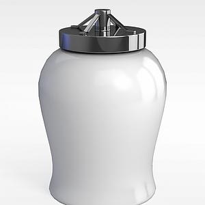 現代瓶子器皿模型3d模型