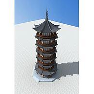 古建佛塔3D模型3d模型