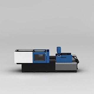 注塑机3d模型