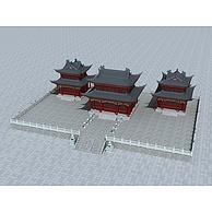 古建宫殿3D模型3d模型