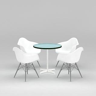 休闲洽谈桌椅3d模型3d模型
