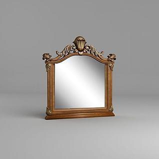 欧式镜子3d模型