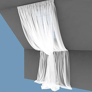 阁楼窗帘3d模型