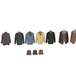 衣服和包3d模型
