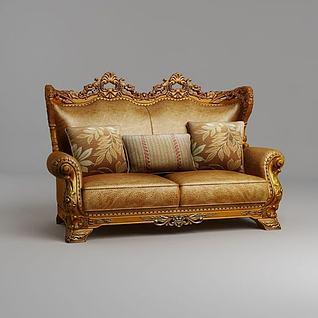 古典欧式双人沙发3d模型
