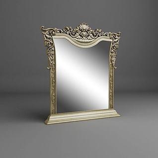 精美欧式镜子3d模型