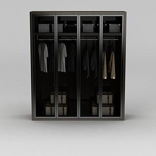 卧室实木衣柜3d模型3d模型