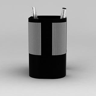 电子钟笔筒3d模型3d模型