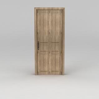 室内原木门3d模型