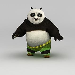功夫熊猫3d模型3d模型