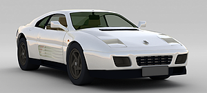 3d白色<font class='myIsRed'>汽车</font>模型