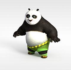 功夫熊猫模型3d模型