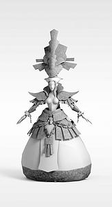 游戏人物角色模型3d模型