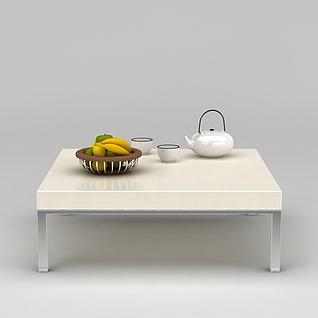 客厅方茶几3d模型3d模型