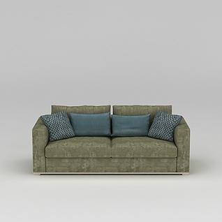 中式双人沙发3d模型3d模型
