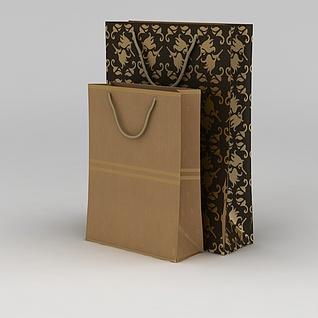 包装纸袋3d模型3d模型