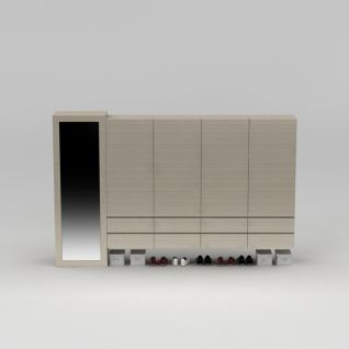卧室衣柜3d模型3d模型