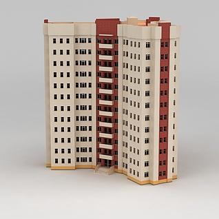 高层公寓楼3d模型3d模型
