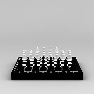 国际象棋3d模型