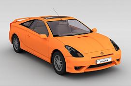 橙色跑车3d模型
