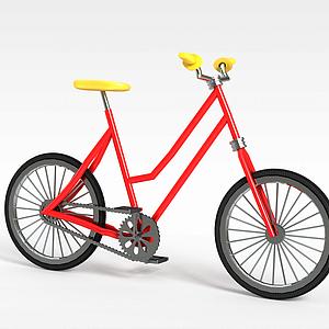 红色自行车模型