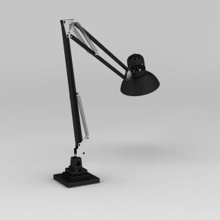 工业风书房台灯3d模型