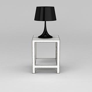 低调黑色台灯3d模型