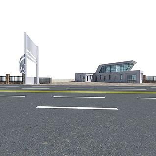 厂房传达室3d模型