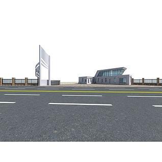 厂房传达室3d模型3d模型