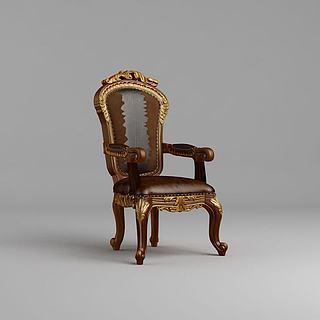 欧式古典<font class='myIsRed'>餐椅</font>3d模型