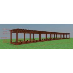 学校廊架3D模型3d模型