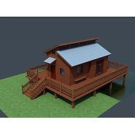 高脚小木屋3D模型3d模型