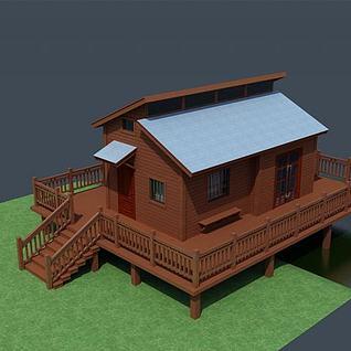 高脚小木屋3d模型
