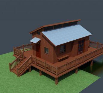 高脚小木屋