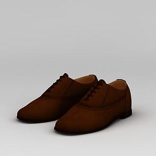 红色女鞋3d模型3d模型