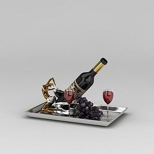 红酒器具3d模型3d模型