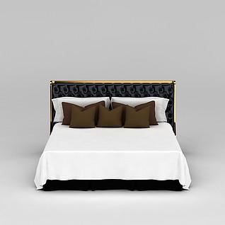 简约床3d模型