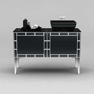 现代浴室柜3d模型3d模型