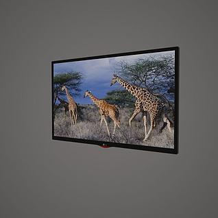 LG电视机3d模型