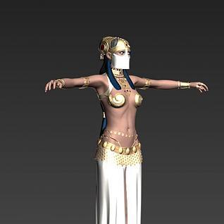 阿拉伯性感女人3d模型