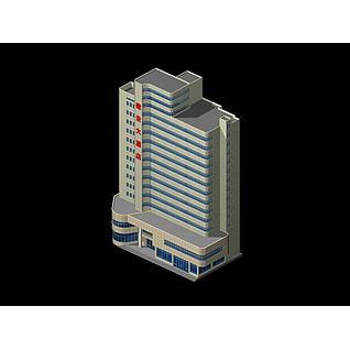 高档酒店3d模型