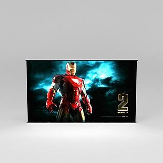 超薄电视3d模型3d模型