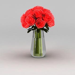 室内鲜花装饰3d模型3d模型